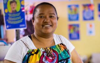 Taking care of children is in Yolanda's genes